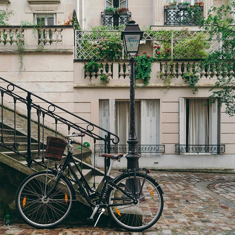 Un vélo à Paris - déplacement responsable